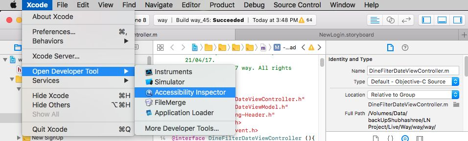 iOS app Automation Testing using Accessibility Inspector