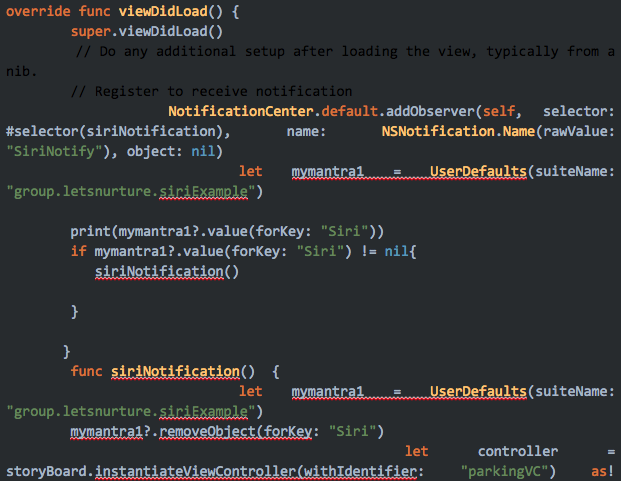 viewDidLoad ( ) in View Controller :